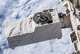 CALET mounted on the Kibo module on the ISS