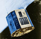 artist conception of Ariel V satellite in orbit