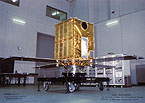photo of Ginga satellite in the clean room