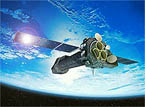 artist concept of XMM in orbit