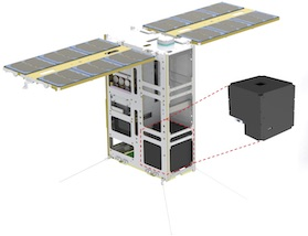 Diagram of PolarLight in its Cubesat