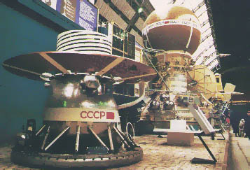 Photo of Venera satellites in a museum