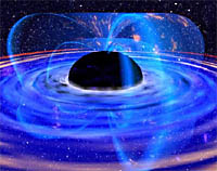 AGN central black hole artist conception