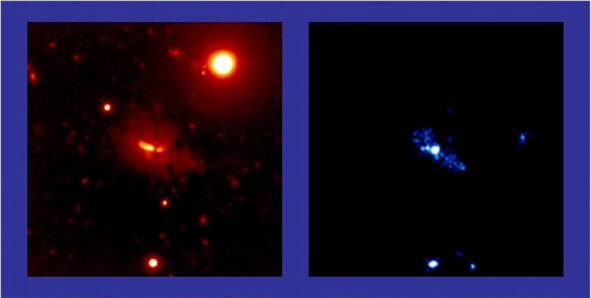 Optical and Chandra Image of 4C41.17