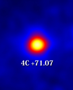 VLBA and Fermi observations of a gamma-ray flare in 4C +71.07