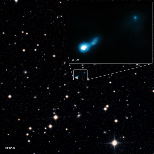 Ancient X-ray jet from an active, supermassive black hole