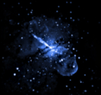 Chandra image of jet from Cen A