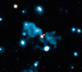 Chandra, MERLIN and SDSS composite of HDF 130