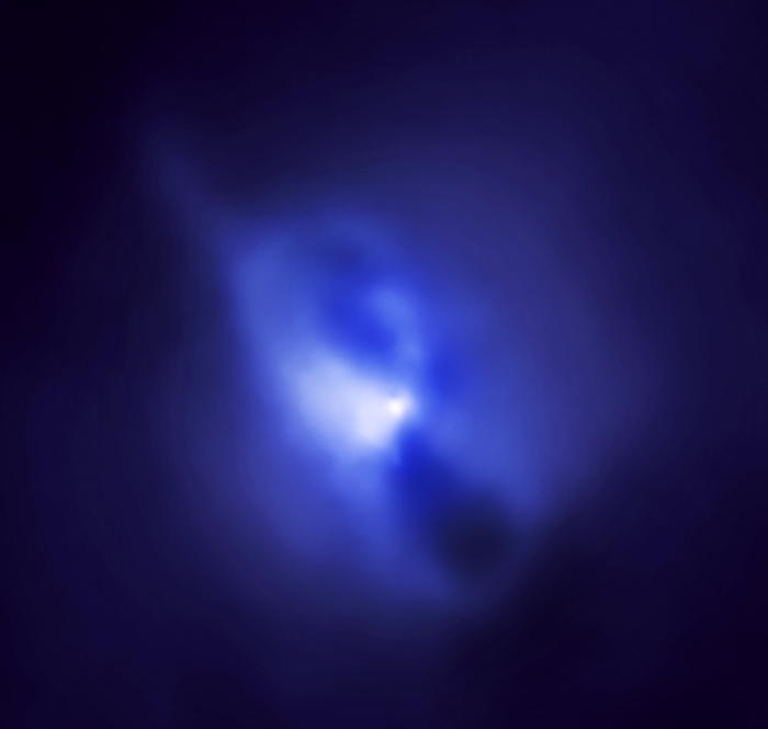 Chandra image of hot gas around Hydra A cluster