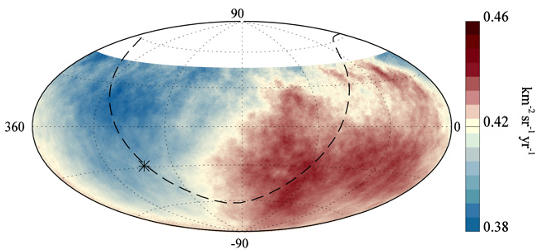 Map of Ultra High Energy Cosmic Rays