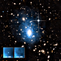 Evidence of an X-ray flare in Abell 1795 dwarf galaxy