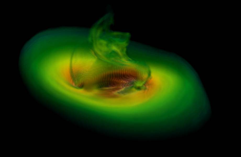 Simulation of merging black holes
