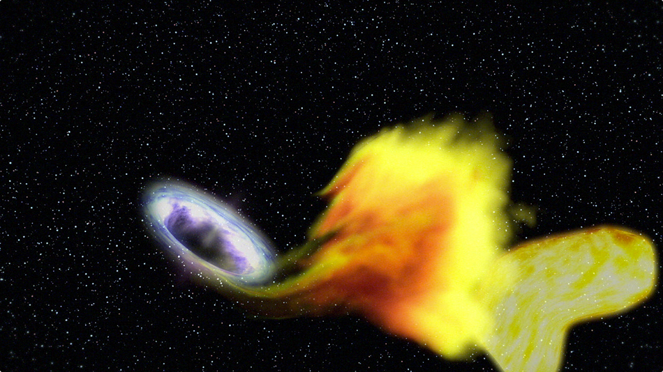 Artist rendition of a Black Hole swallowing a star