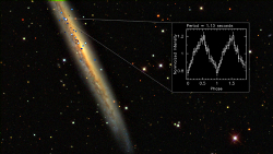 Galaxy NGC 5907 and ultra-luminous X-ray pulsar