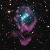 Chandra/optical/radio image of Circinus X-1