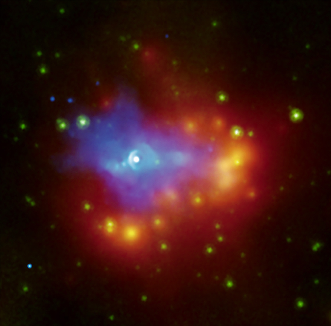 Chandra and Spitzer image of G54.1+0.3