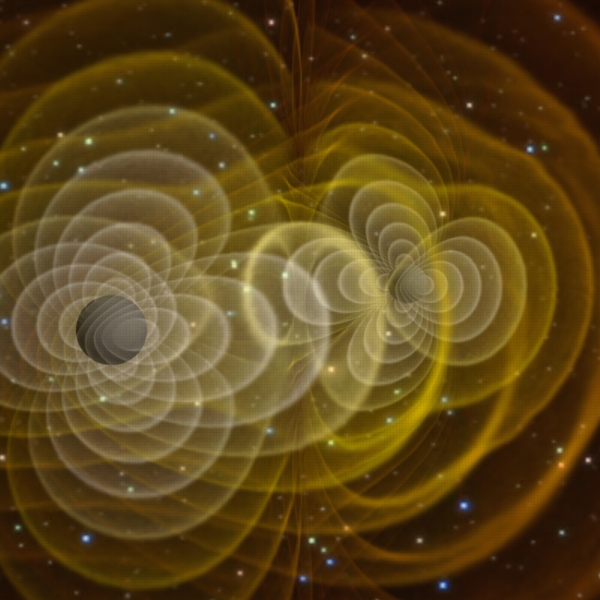 Simulation of gravitational radiation from merging black holes