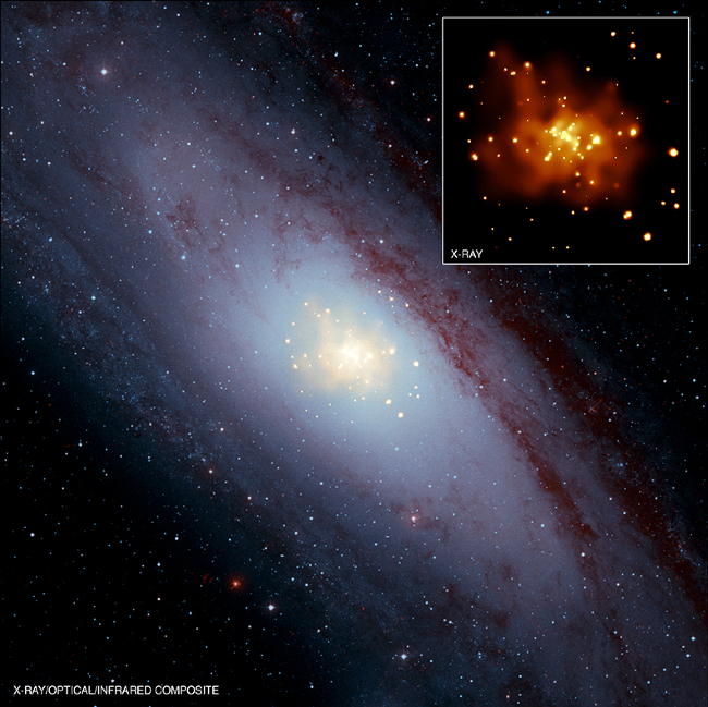 Optical and X-ray image of M31