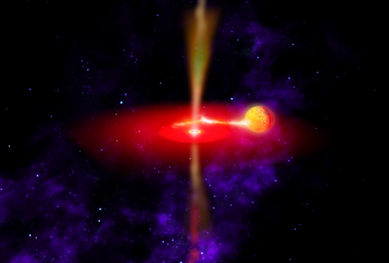 Artist impression of an intermediate mass black hole