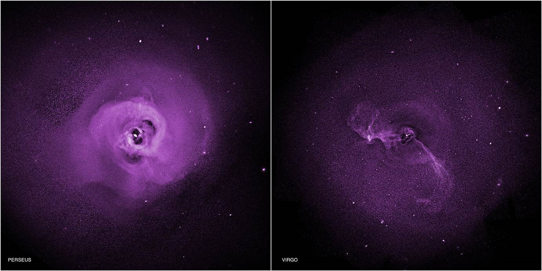 Chandra observations of turbulence in the Perseus and Virgo galaxy clusters