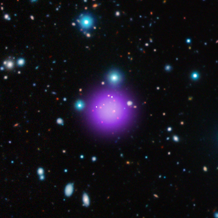 Most distant galaxy cluster identified