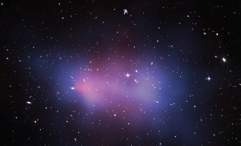 Chandra and Hubble image of El Gordo galaxy cluster