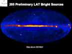Release of Fermi/LAT Bright source list