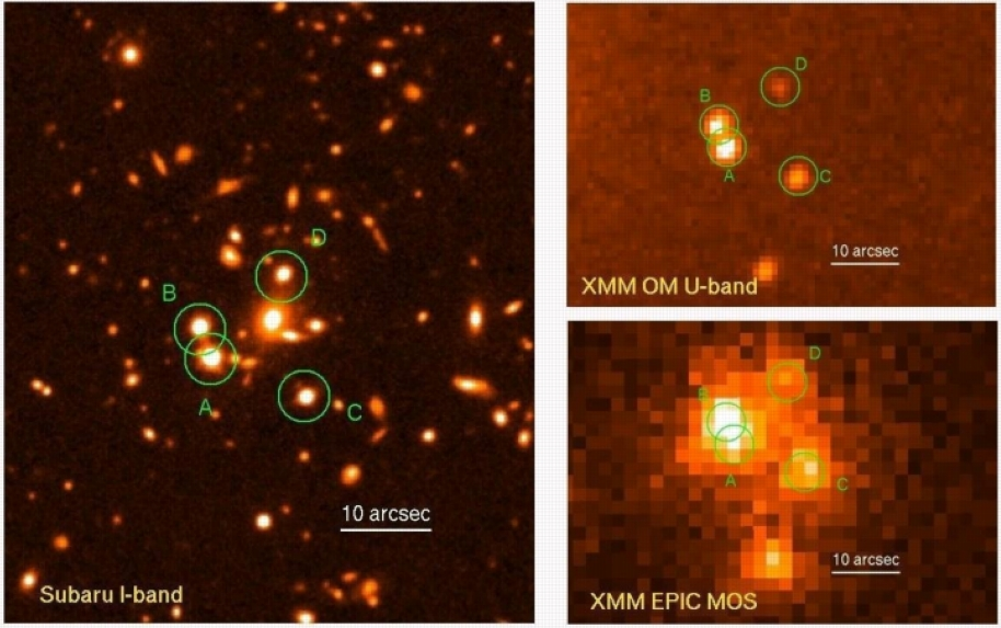 Subaru and XMM images of gravitation lens SDSS J1004+4112