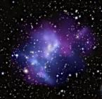 Chandra and HST image of collision of 4 clusters of galaxies
