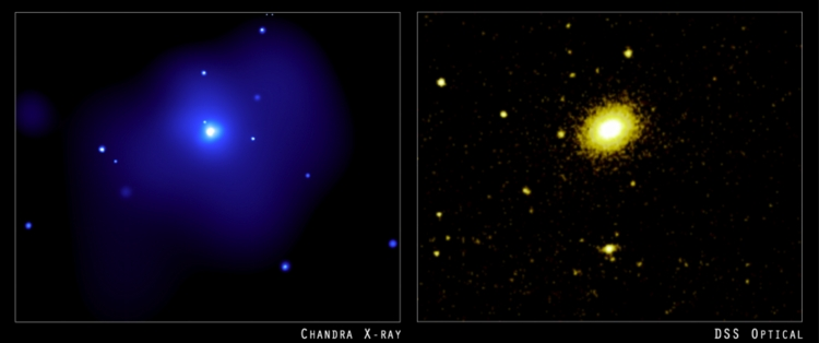 Chandra Image of NGC 4555