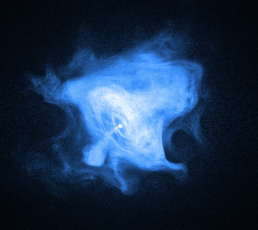 Chandra X-ray image of the outer Crab Nebula