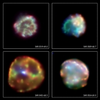 Chandra montage of LMC supernova remnants