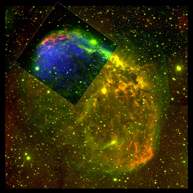 CHANDRA and Optical image of NGC 6888 nebula
