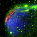 Chandra and optical image of NGC 6888