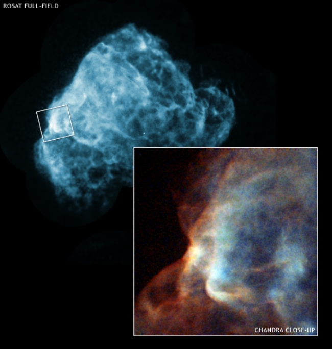 Chandra view of the erosion of an interstellar cloud by a supernova blast wave