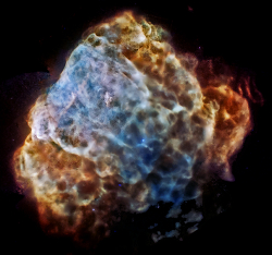 Chandra and XMM X-ray color image of Puppis A