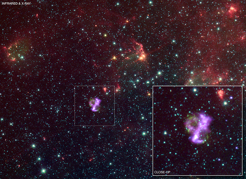 IR and X-ray image of SNR 0104-72.3