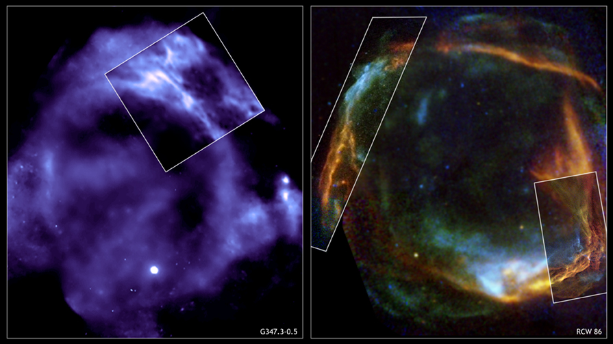 Chandra and XMM-Newton observations of 2 supernova remnants