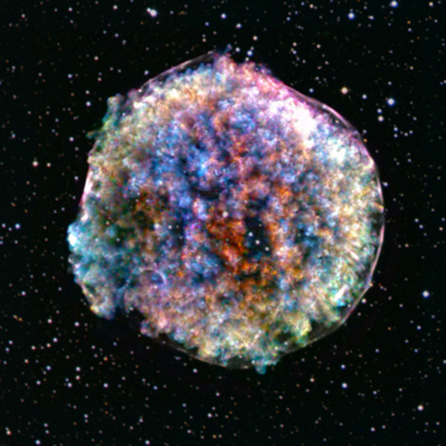 Chandra X-ray full color image of the Tycho supernova remnant