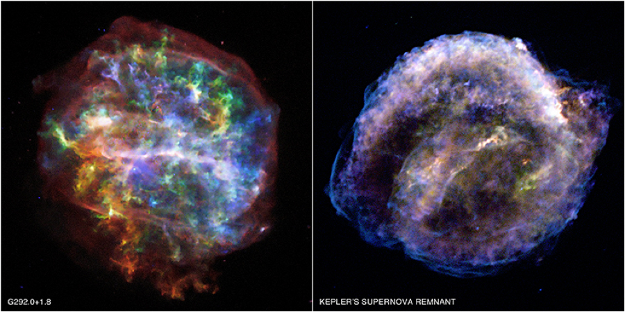 Chandra view of two types of supernova remnants