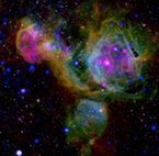 Composite image of the star forming region N51 in the LMC