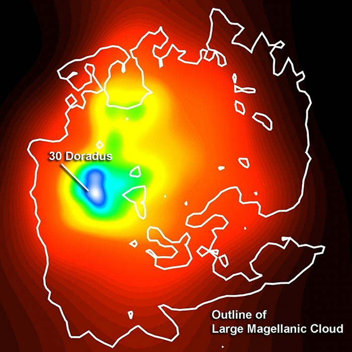 Fermi LAT image of the LMC