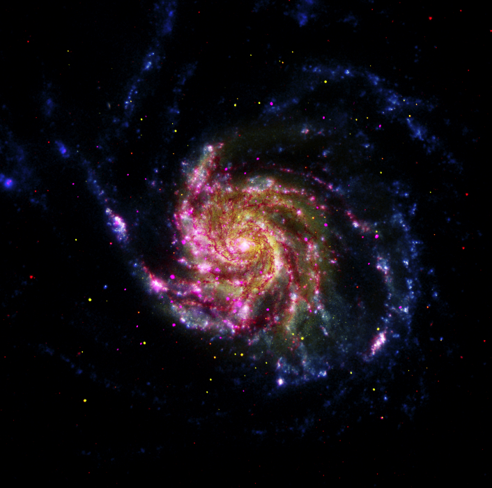 A multicolor image of M101 that you can make yourself