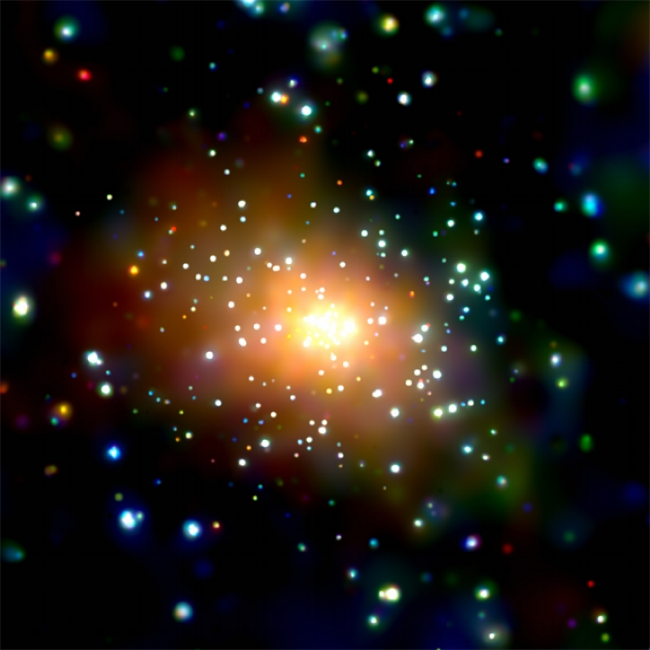 Chandra X-ray image of the Center of M31