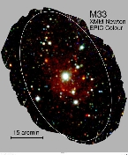 M33 mosaic by XMM-Newton