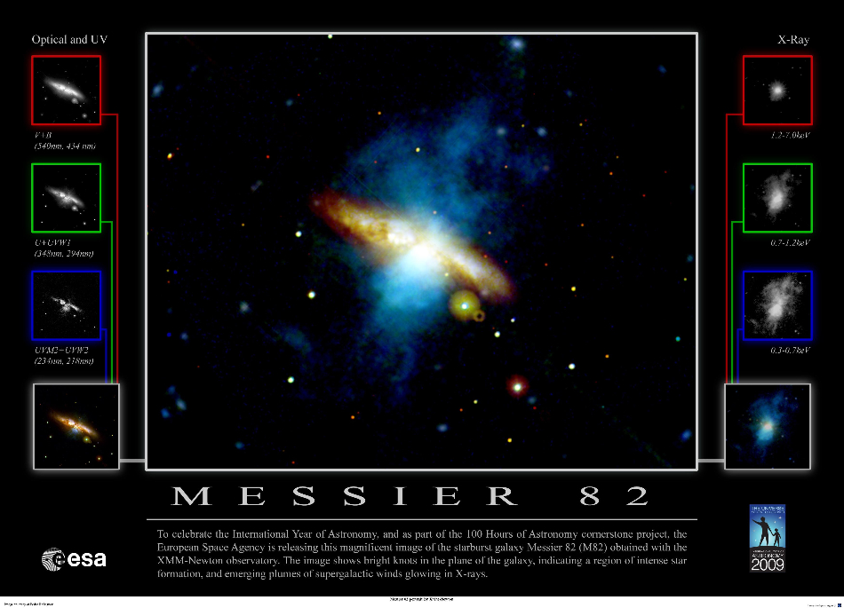 Multiwavelength view of M82
