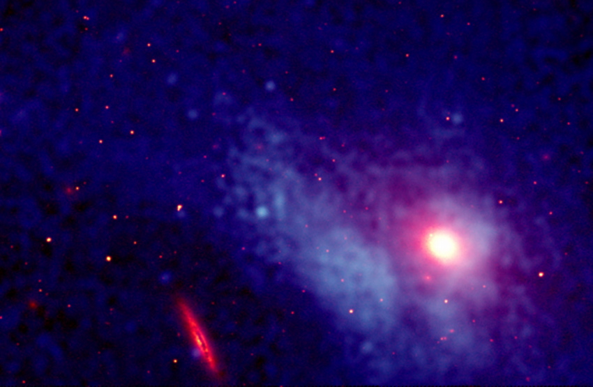Chandra image of M86 trail