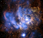 Chandra, HST image of NGC 604