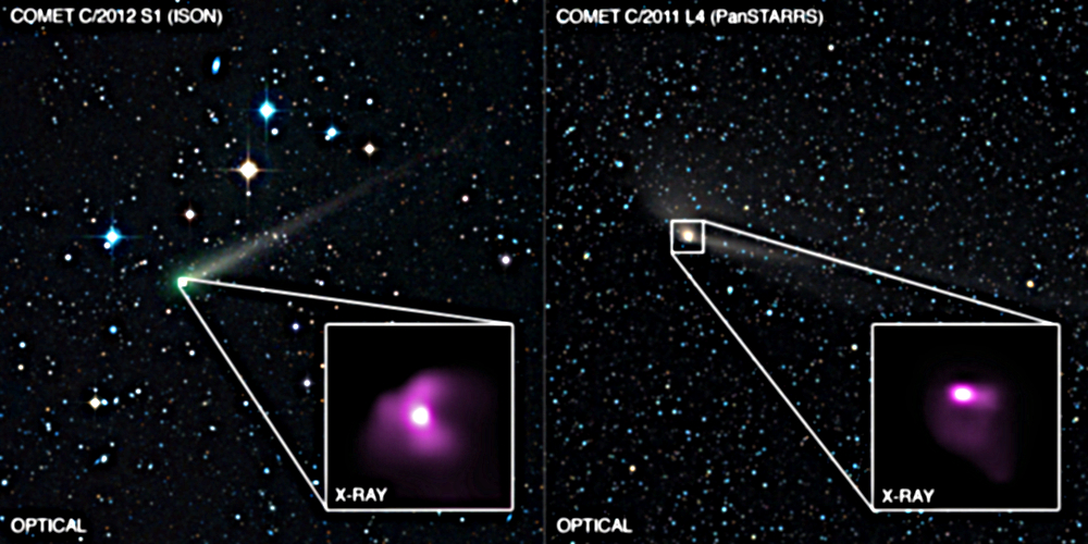X-ray emission from two comets