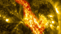 SDO image of Canyon of Fire on Sun